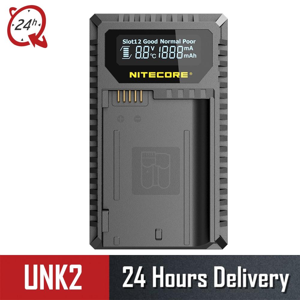 Nuevo Nitecore UNK2 cargador Dual USB para Nikon EN-EL15 batería D500 D600 D610 D750 D800 D800E D810 D810A V1 1V1 d850 D7000 D7100