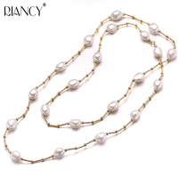 High Quality Fashion White Long Pearl Necklace Baroque Natural Freshwater Pearl Pearl Jewelry For Women Necklace