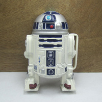 Fashion 3D Star Wars R2D2 Belt Buckle With White Coating FP 03634 For 4cm Wideth Belt