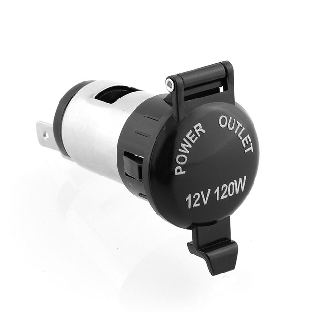 12V Waterproof Car Auto Motorcycle Cigarette Lighter Power Plug Socket For Motorcycles Boats Mowers Tractors Cars