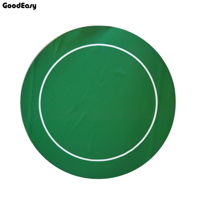 138cm High Quality Green Texas 'em Poker Round Rubber Mat Poker Game Table Casino Layout Poker Cloth with Shoulder Bag 600 1000pcs lot new casino texas hold em abs poker chips with star trim sticker baccarat poker chip sets with acrylic box