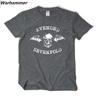 Avenged Sevenfold A7X T Shirt Men Heavy Metal Style Summer Tee Shirt Homme Cotton Print 3D