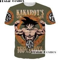 PLstar Cosmos New Design Dragon Ball Muscle Men T Shirt Cartoon 3D Print Letter O Neck