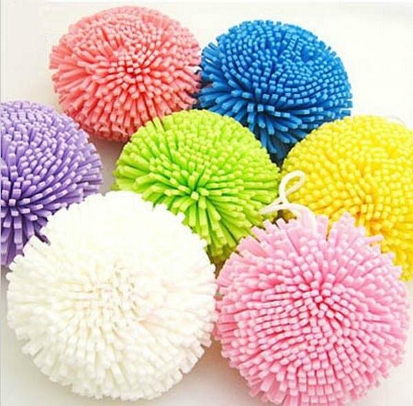 5Pcs/Lot Candy Color Natural Sponge Bath Ball Soft Comfortable Body