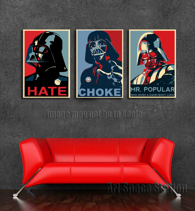 Darth Vader Star Wars Movie Poster, Space Hero Classic Art PRINT on ...
