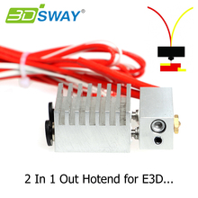 3D Printer Part Cyclops 2 In 1 Out Hotend remote extruder Dual Color Switching Hotend for 0.4mm Nozzle 1.75mm Filament All metal