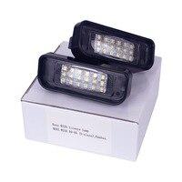 HengChiLun 2PCS 12V 6000K License Plate Light LED Number Plate Light For Mercedes Benz W220 CLK