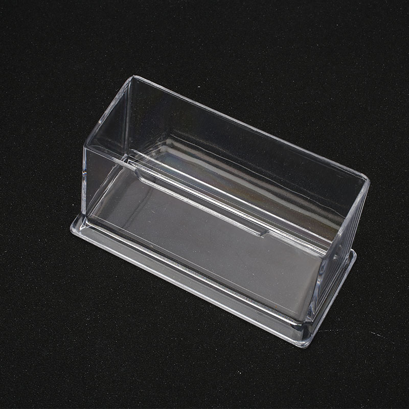 Clear Plastic Business Card Holder Office Counter Dispensers Display ...