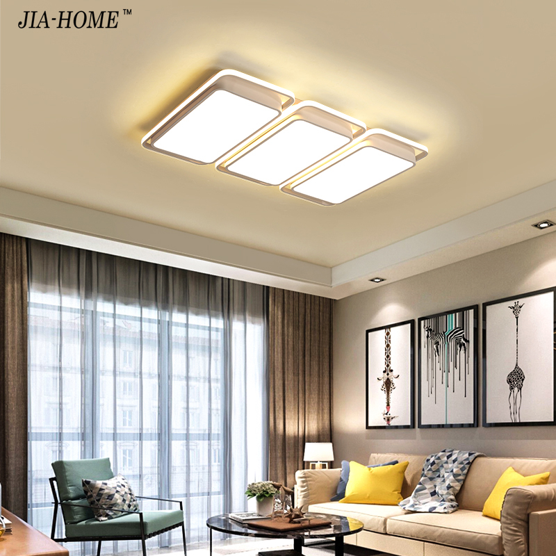 Lights & Lighting Ceiling Lights & Fans White Frame Modern Led Ceiling Lights For Living Room Bedroom Plafond Led Home Lighting Ceiling Lamp Home Lighting Fixtures Dero