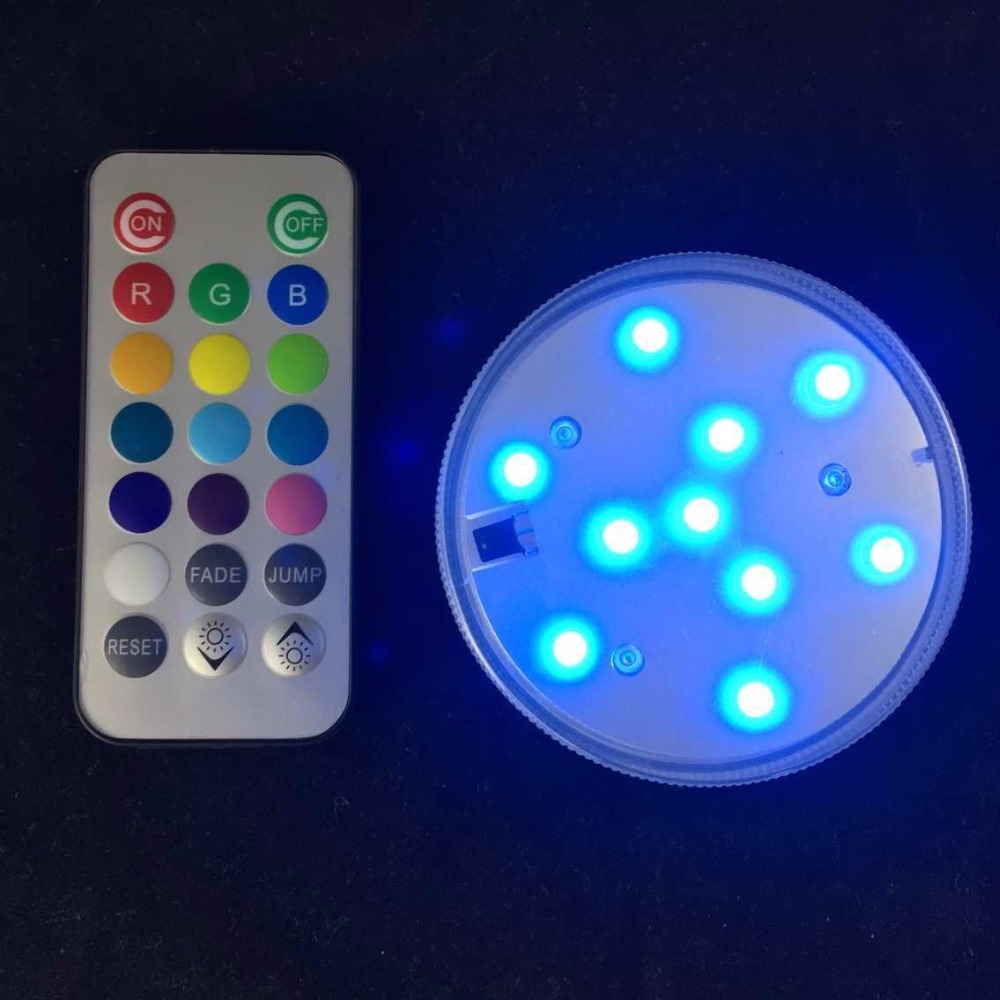 Wireless Remote Control RGB LED Multi Colours Night Light AAA Battery Waterproof for Home Bath Room Night Bar Mood Decoration