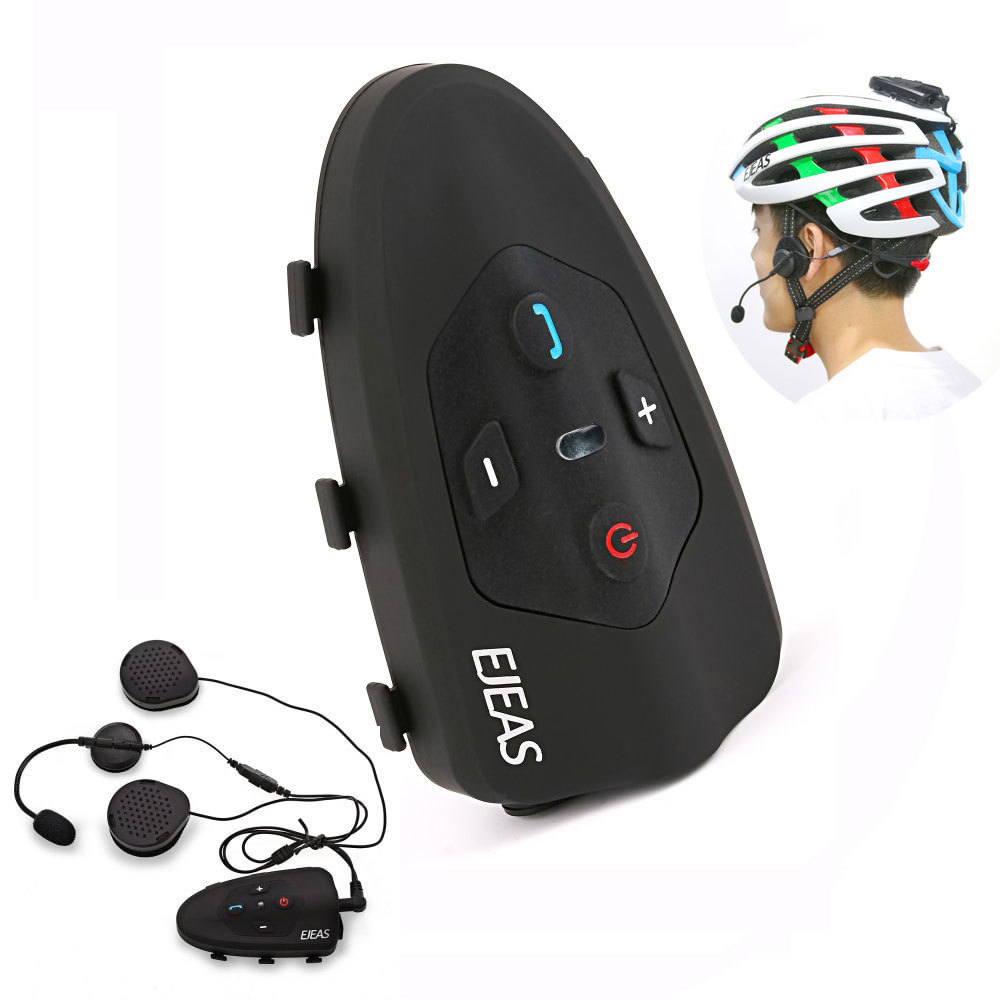 2017 Ejeas Eagle 2 Rider Cycling Interphone Bluetooth Motorcycle Helmet Headset 120km Full Duplex Talking Intercom