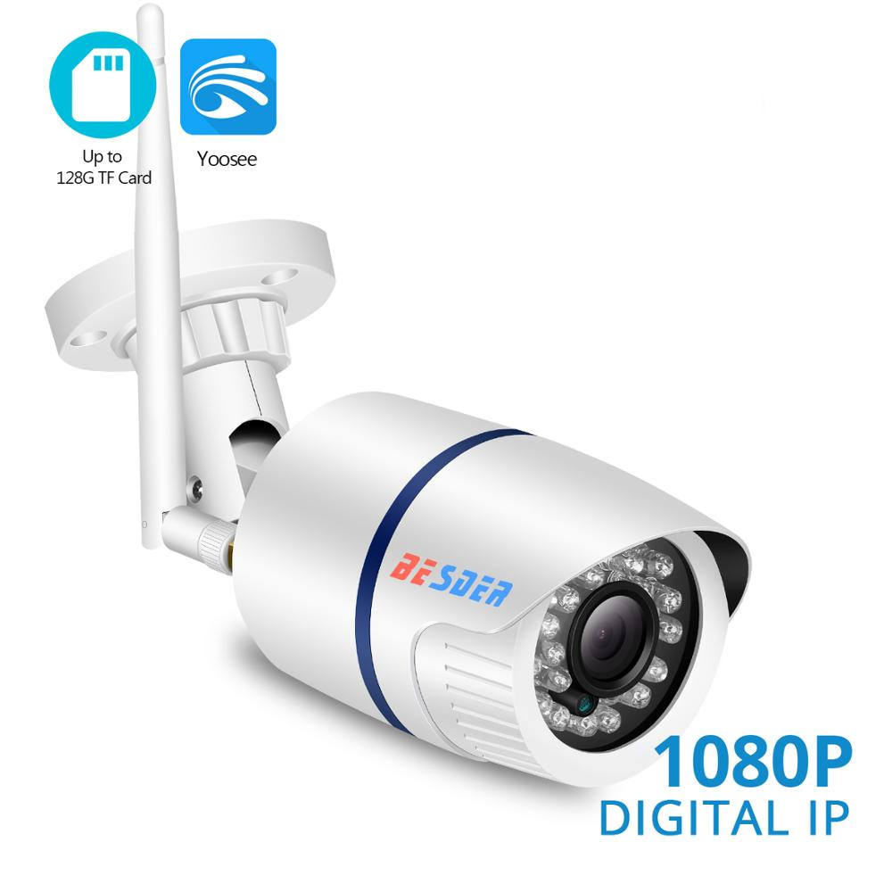 BESDER 720P/1080P Wifi IP Camera Yoosee Outdoor Waterproof Home Security Camera Wireless CCTV Surveillance SD Card Max 128GB-in Surveillance Cameras from Security & Protection