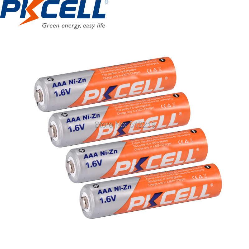 12 шт. PKCELL 1,6 в аккумулятор AAA 900mWh 3A NIZN aaa перезаряжаемый аккумулятор ААА NI-ZN AAA батареи и 3 шт. держатель батареи Коробка