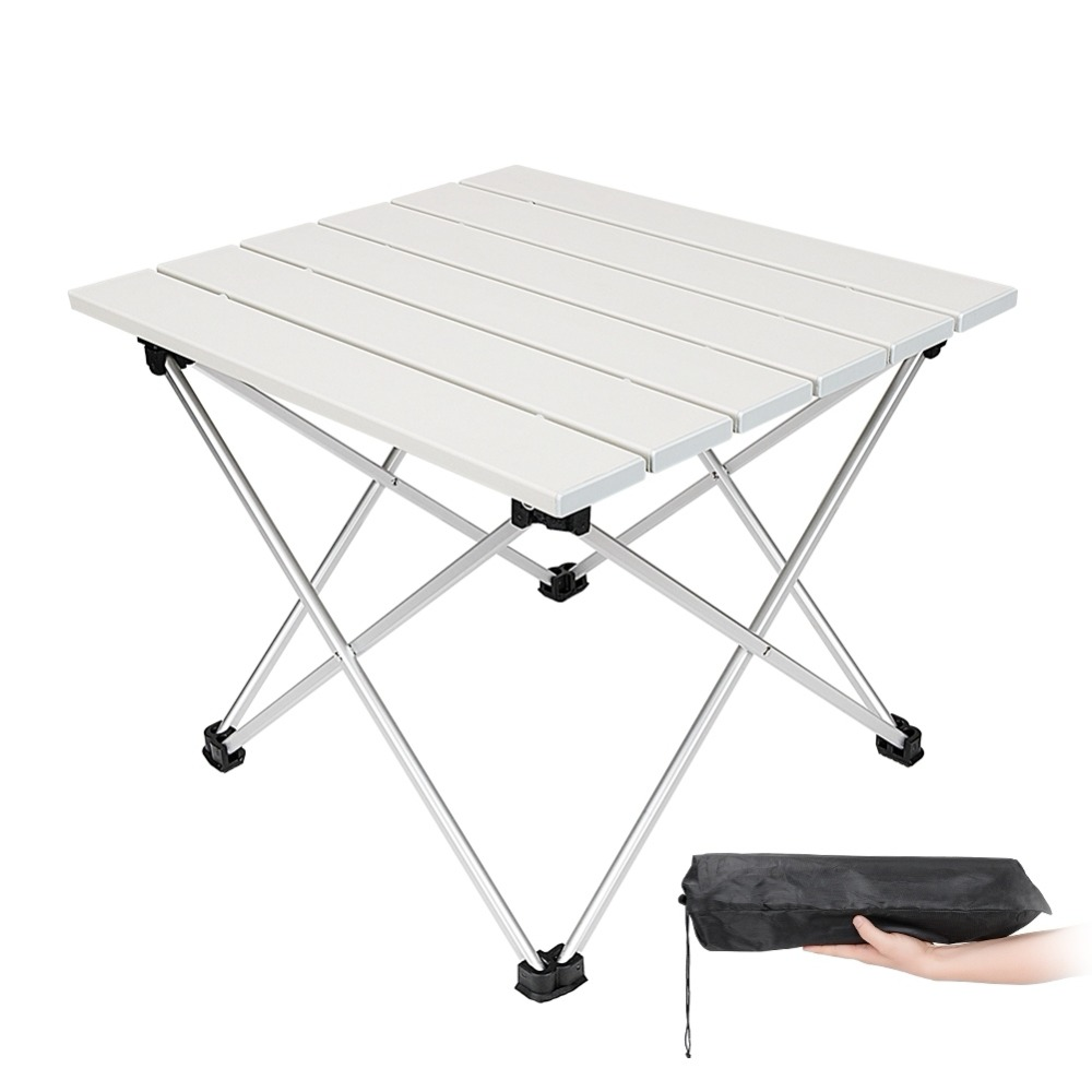 Fishing Tools Ultralight Portable Folding Table Car Camping Picnic Table Outdoor Leisure Barbecue Aluminum Alloy PVC Desktop new outdoor folding picnic table brown color ultralight aluminum camping table fishing barbecue