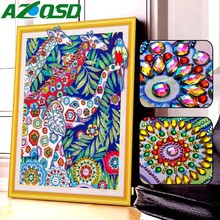 AZQSD 5d Diy Diamond Painting Pictures Of Rhinestones Embroidery Elephant Animal Mosaic Handicraft Hobby 40x50