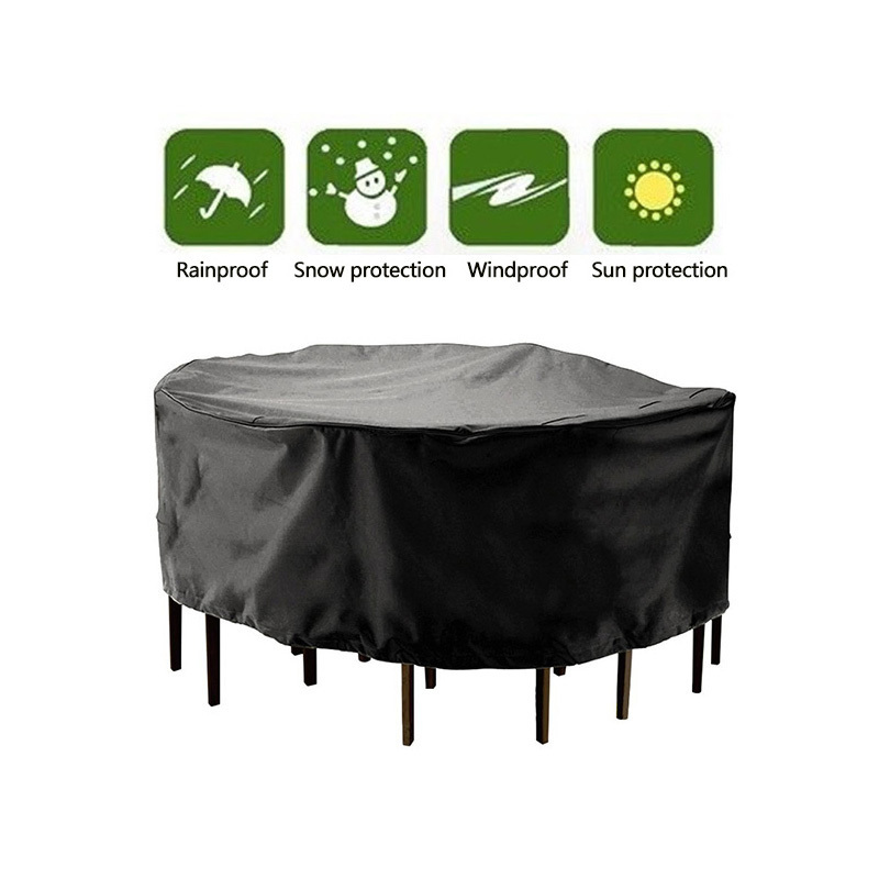 210d Polyester Round Outdoor Furniture Cover Garden Patio Table Chair Protective Case Rainproof Dustproof Cover All Purpose Covers Aliexpress