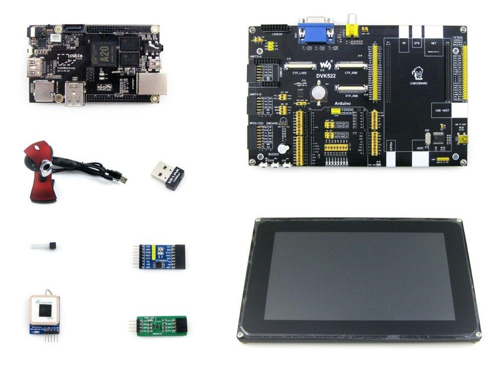 Cubieboard 2 Package C A20 ARM Cortex A7 Dual Core Mini PC + DVK522 expansion Board + 7 Modules