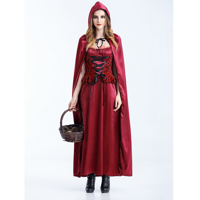 Cosplay Little Red Riding Hood Costume Plus Size Women Costume For Adult Halloween -6920