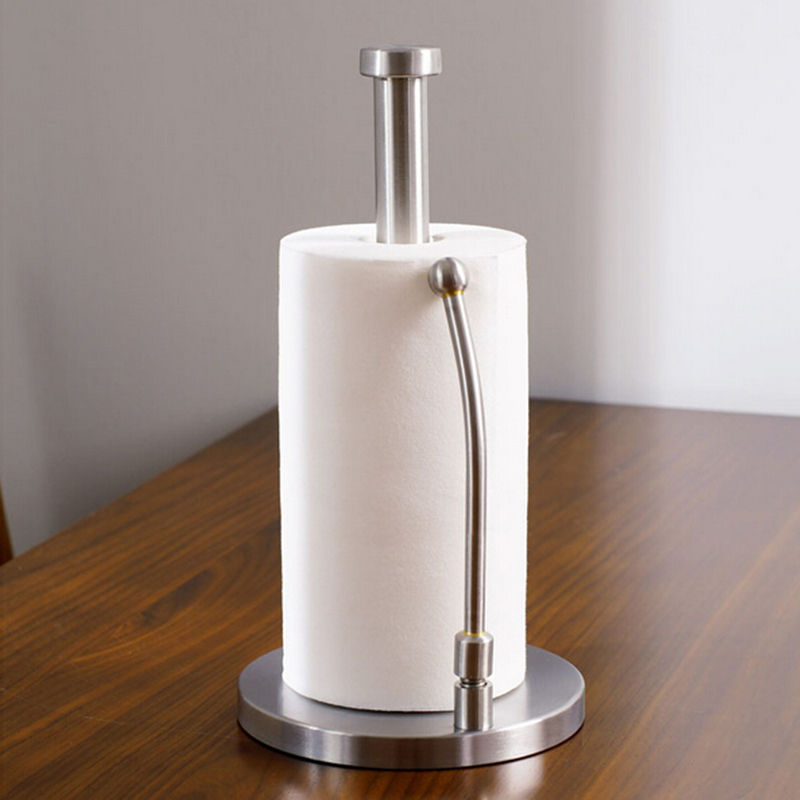 цены Vidric Stainless Steel Sitting Paper Tissue Towel Kitchen Roll Stand Holder For Bath Bathroom dining table Paper Standing Tool