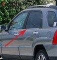 Для Kia Sportage 2005 2006 2007 2008 2009 2010 отделка окна автомобиля из нержавеющей стали рамка литья покрытия стикер внешние аксессуары