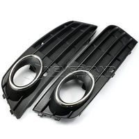 2015 New Matte Black Euro Front Fog Light Grille Grill Cover For Audi A4 A4L B8