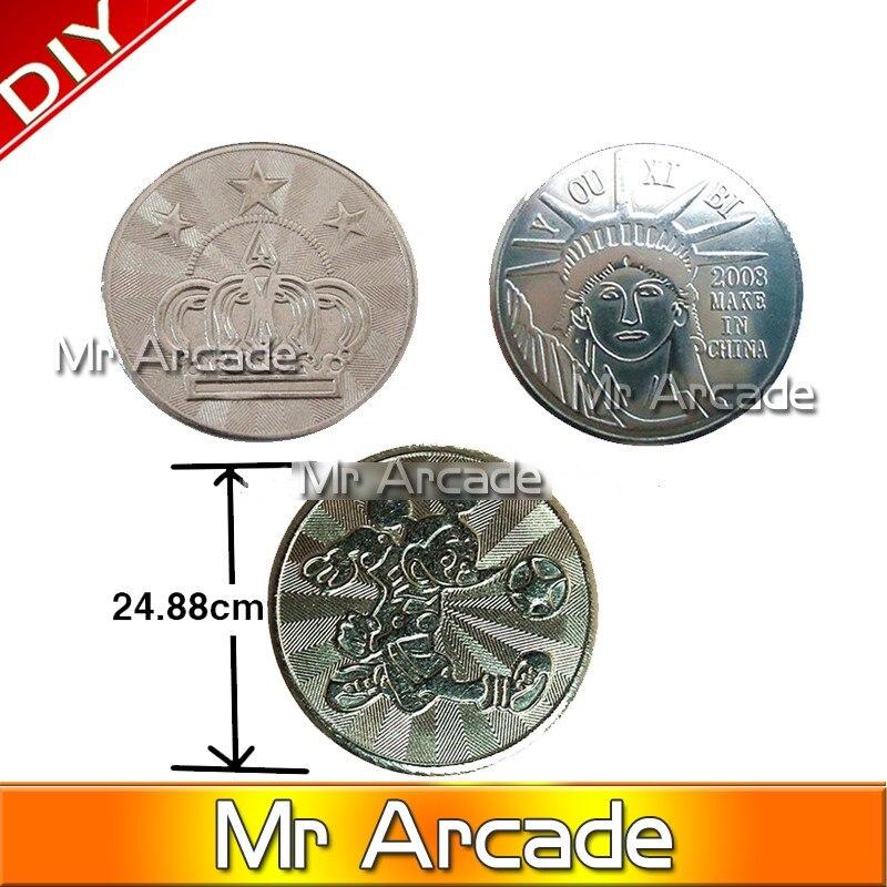 500 pcs Arcade amusement park 25 1 85mm game machine coin token Stainless steel token coin