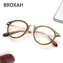 Fashion Oval TR90 Glasses Frame Women Men Reading Eyewear Vintage Ultralight Clear Lens UV400 Optical Oculos