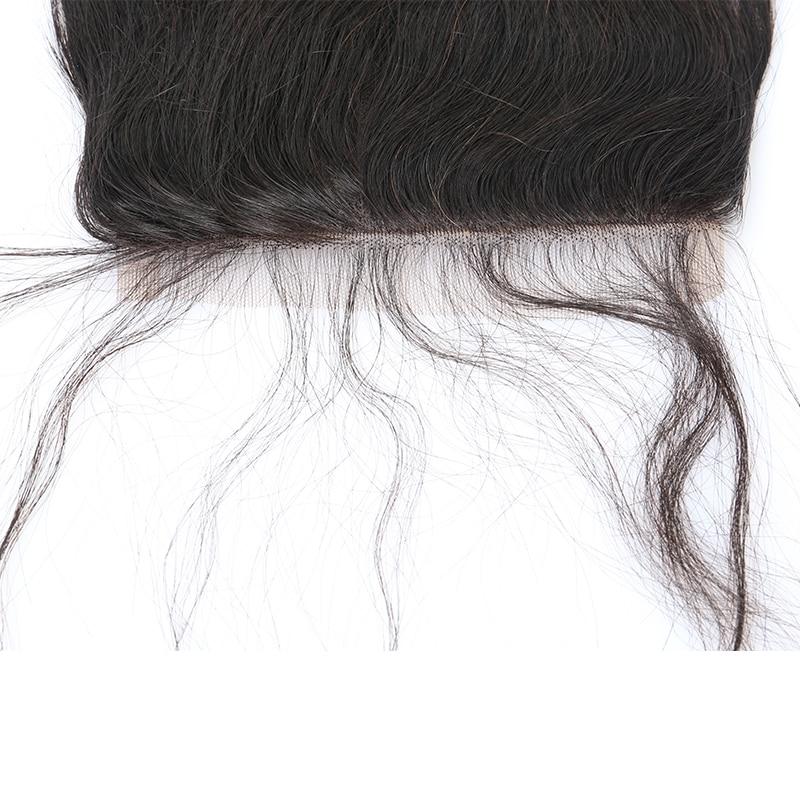 5x5 Закриття шнурка Бразильський - Людське волосся (чорне) - фото 6