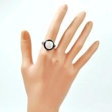 120 шт модные черные белые гладкие эмалевые женские кольца партия