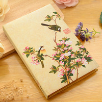 2017 A5 Vintage Chinese notebook stationery small fresh diary antique note book gift simple notepad agenda journal