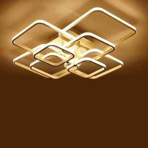 Image 3 - Moderne LED Kronleuchter Beleuchtung Für Wohnzimmer Mit Fernbedienung Schlafzimmer Wohnkultur Lampen Esszimmer Restaurant Leuchten Glanz