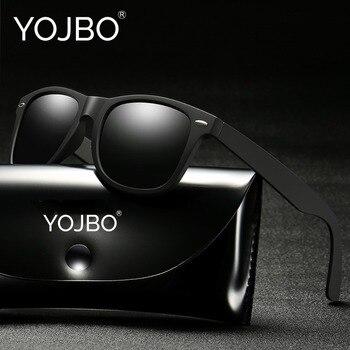 Yojbo 패션 편광 선글라스 남자 운전 거울 코팅 여성 레트로 태양 안경 블랙 프레임 안경 uv400 숙녀 그늘