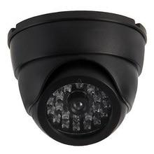 Dome Dummy Fake Infrared IR CCTV Surveillance Security Cameras Imitation Simulated Blinking LED Black