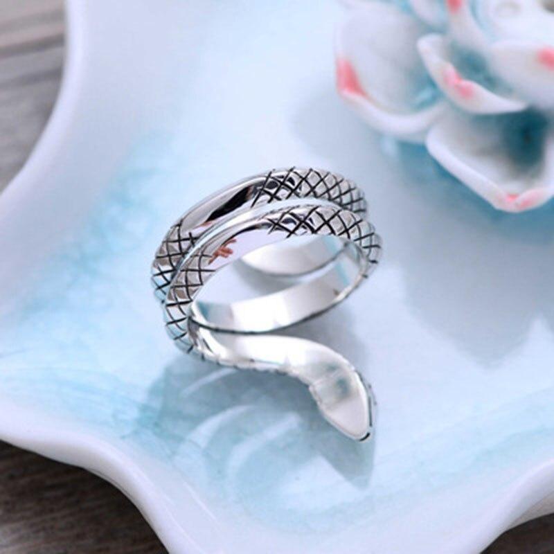 Thai argent animaux serpent anneaux pour femmes hommes 925 en argent Sterling Anillos mode bijoux accessoires offre spéciale - 5