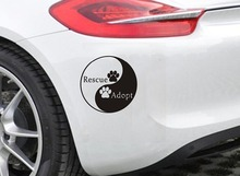 Wall Decal Vinyl Sticker Car Style Chinese Ying Yang Rescue And Adopt Removable Waterproof Design Decoration DIY WW-224
