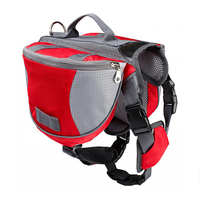 Durable Pet Backpack Dog Saddlebags Medium And Large Dogs Harness Bag For Outdoor Hiking Camping Training