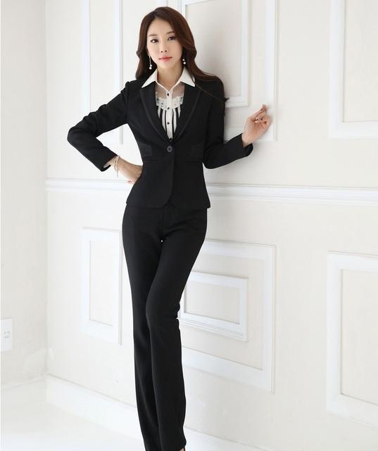 Novo e Elegante Preto Fino Moda Profissional Ternos Com Coletes E Calças de Negócios Calças Formais Ternos Feminino Calças Conjuntos