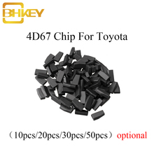 BHKEY 10X 20X 30X 50X For Toyota CAMERY COROLLA PREVIA REIZ CROWN RAV4 For Lexus P28 4D ID 67 4D67 Chip Transponder Chip 10pcs blank 4d67 id67 carbon chip car key transponder chip fit for toyota camery corolla previa reiz crown rav4 etc new