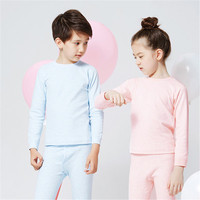 Kids Long Sleeve Pijamas Sets Children Cotton Comfortable Pajamas Sleepwear Boy Solid Autumn Winter Fashion Pajama Suit AA60512