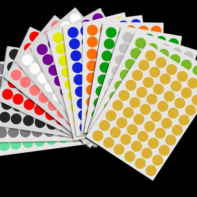 165/132 pcs/Sheet Colorful Empty Papers Sticker for Glass Essential Oil Bottle Cap Lid Labels Blank Round Circles Stickers