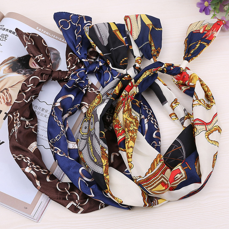 2018 New Fashion Women Elegant Print Vintage Cloth Headbands Hair Holder Ornament Headwear Hairbands Lady Hair Band Accessories