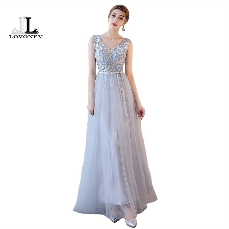 Lovoney Robe Demoiselle Dhonneur Bridesmaid Dresses Long Prom