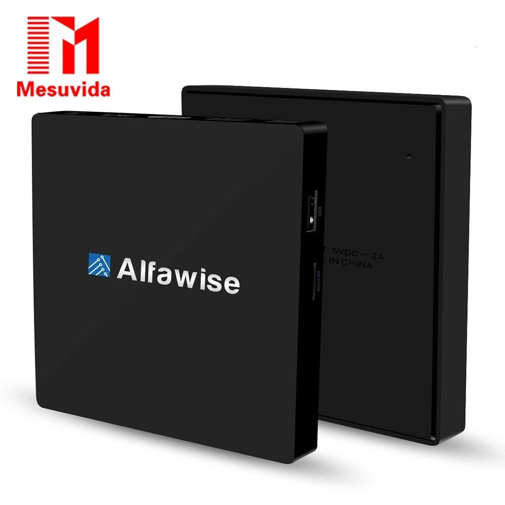 ФОТО Mesuvida Alfawise S92 Smart TV Box Android 6.0 Amlogic S912 VP9-10 H.265 Decoder 2.4G/5.8G Dual Wifi BT 4.0 Multi-Media Player