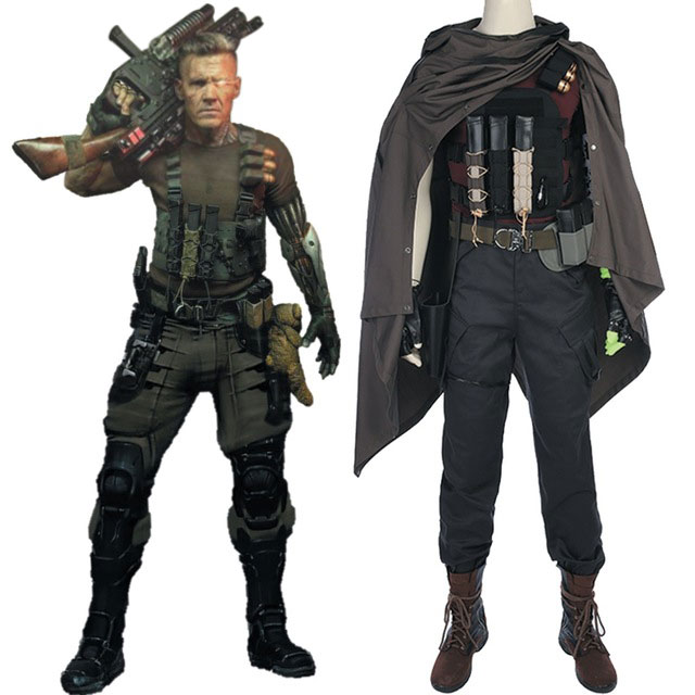 Deadpool 2 Cosplay Cable Nathan Christopher Charles Summers Outfit Cosplay Costume Adult Men