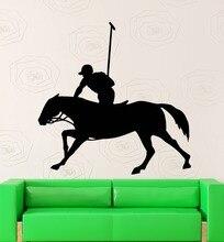 Equestrain Hombre Jinete Caballo Arte Mural De la pared Creativo Hombre Montado A Caballo Patrón de Pared de Vinilo Pegatinas Home Decoración Salón M-81