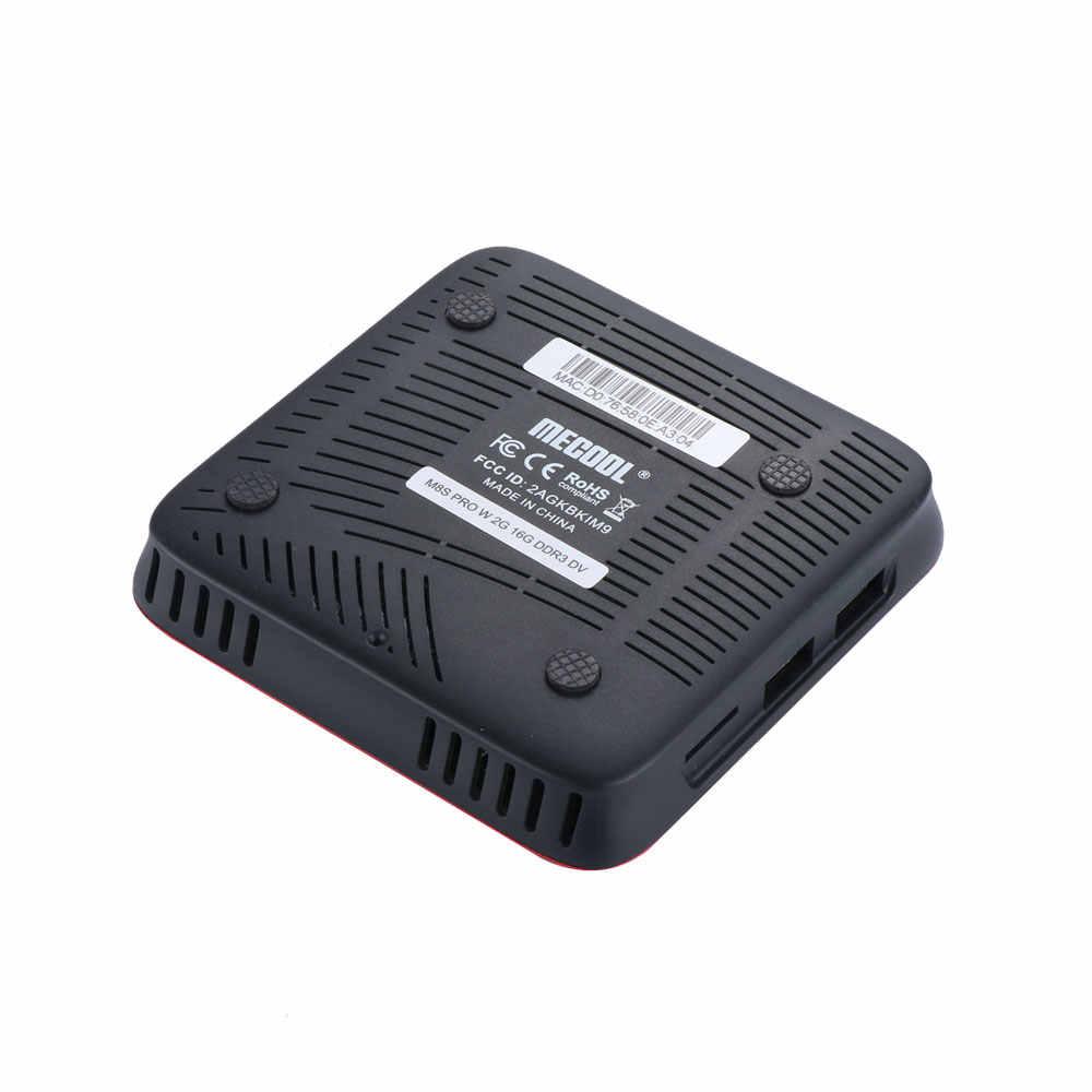Mecool M8S プロ W 音声制御テレビボックスアンドロイド 7.1 Amlogic S905W 2 ギガバイト 16 ギガバイト HDMI セットトップボックス PK H96
