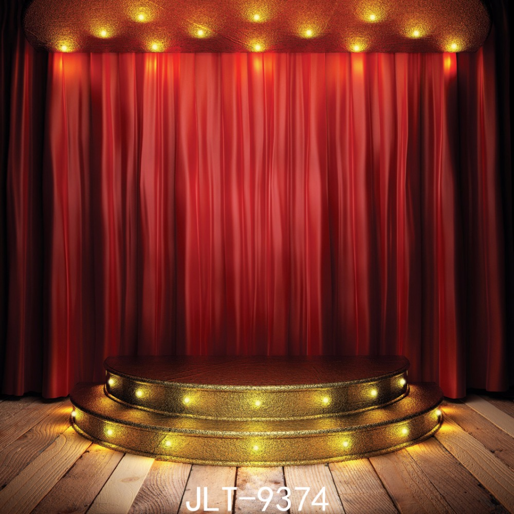 Stage of the red curtain Party backdrops  photo background photography backdrop photography-studio-backdrop  10x10FT  9374 8X8FT 600cm 300cm background large courtyard in front of people photography backdropsvinyl photography backdrop 3383 lk
