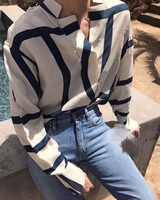 WISHBOP クリーム海軍モノグラムプリントシルクシャツスタンド襟特大ブラウストップボタンアップ長袖トップ女性 2019
