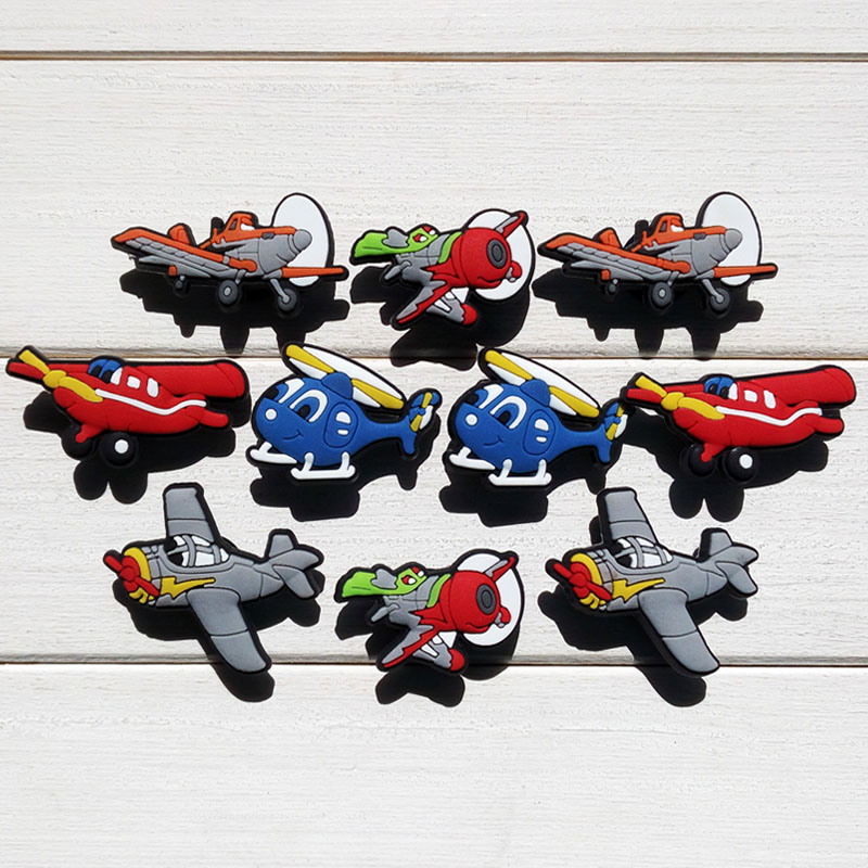 Modest 100pcs Planes Cartoon Pvc Shoe Buckles Shoe Charms Fit Croc For Shoes&wristbands With Holes Furniture Accessories Kids Best Gift Factory Direct Selling Price Furniture