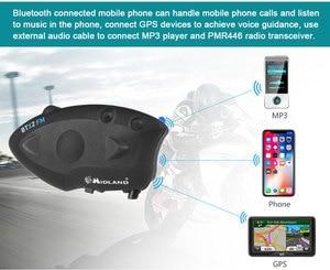 Image 3 - ミッドランド BTX2 FM オートバイのヘルメットインターコムの Bluetooth ヘルメットヘッドセットバイク 800 メートル BT インターホン Intercomunicador モト